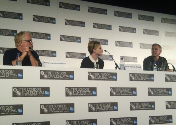 Philip Seymour Hoffman, Evan Rachel Wood, George Clooney - The Ides of March London Film Festival Press Conference